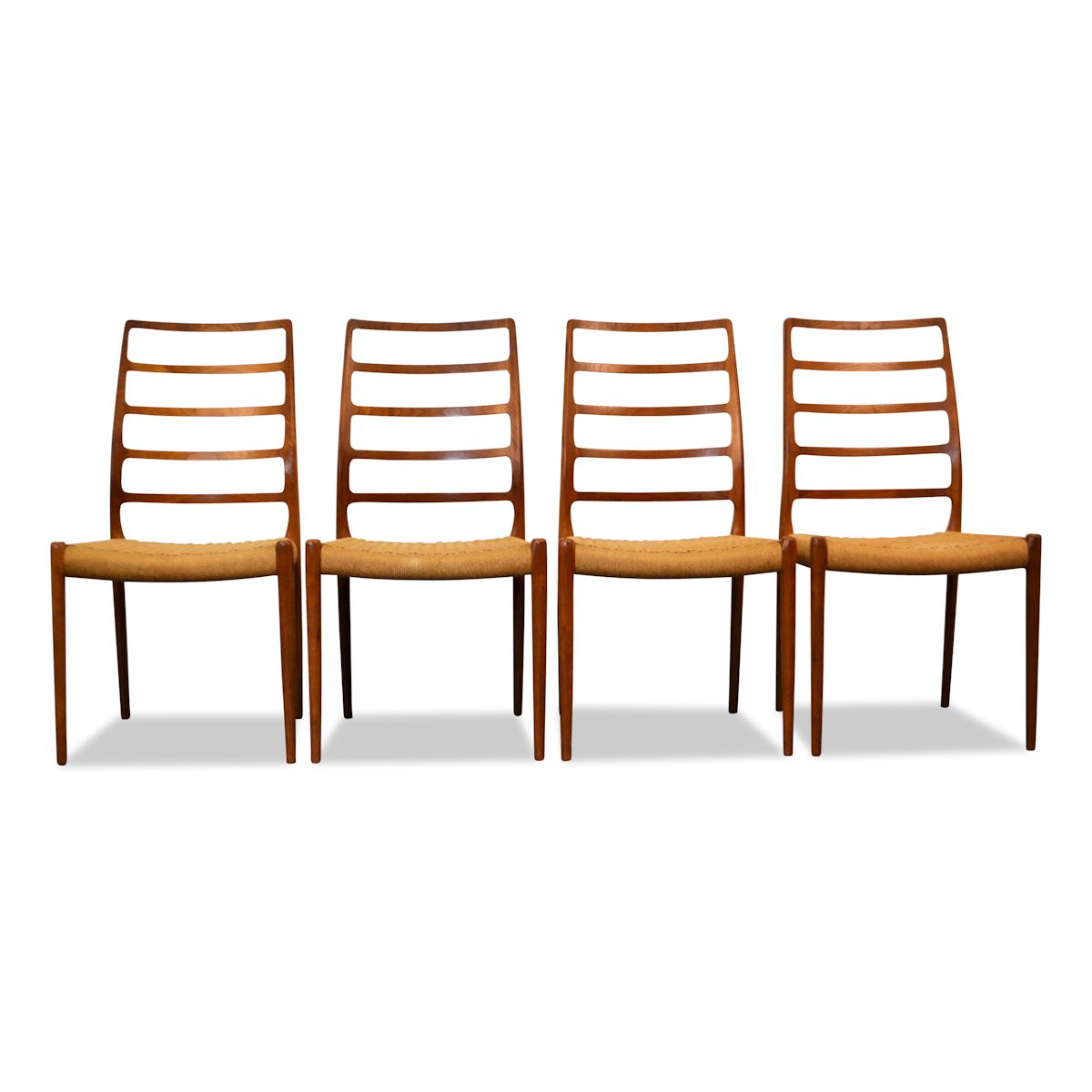 Vintage Niels O. Møller Model 82 Dining Chairs - front