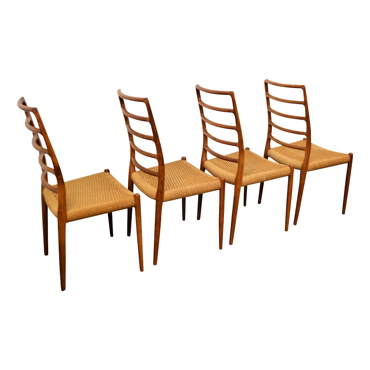 Vintage Niels O. Møller Model 82 Dining Chairs