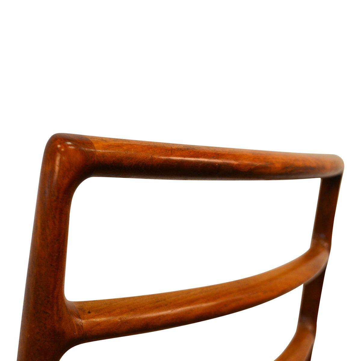 Vintage Niels O. Møller, model 82 teak stoelen (detail)