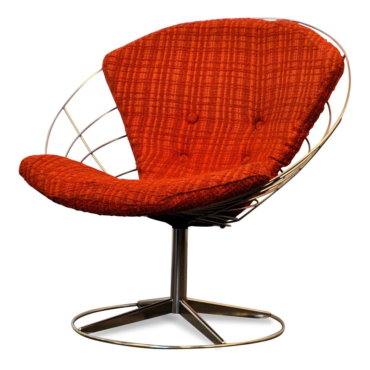 Deens design draadstaal fauteuil uit jaren 60