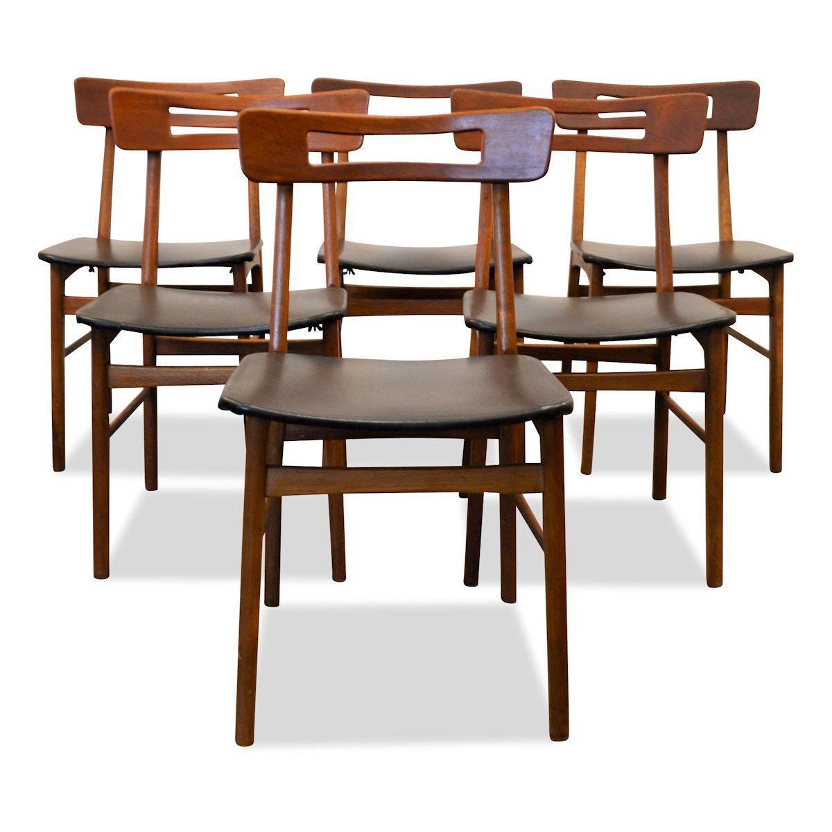 Danish Modern Dining Chairs: Vintage Teak Danish Modern Dining Chairs