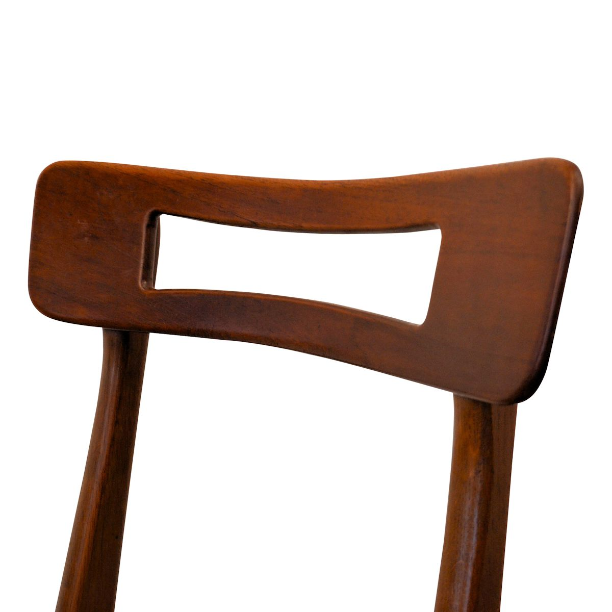 Vintage Teak Danish Modern Dining Chairs - detail backrest