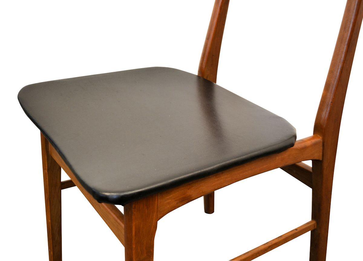 Vintage Teak Danish Modern Dining Chairs - seat