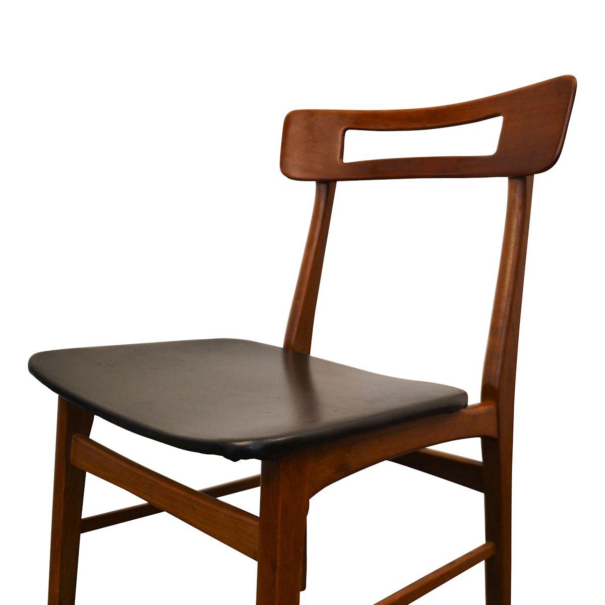 Vintage Teak Danish Modern Dining Chairs