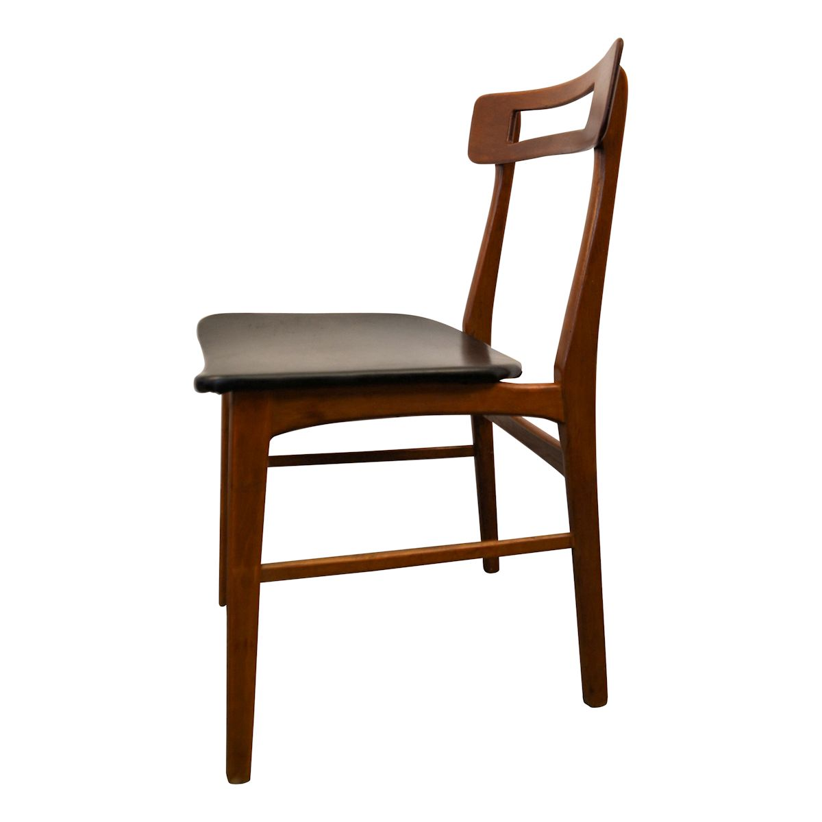 Vintage teak danish modern dining chairs vintage vibes for Contemporary designer dining chairs