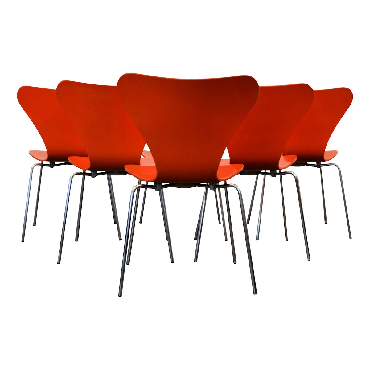 Model 3107 Butterfly Chairs by Arne Jacobsen - back