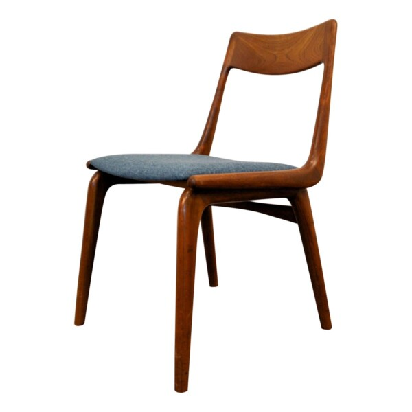 "Vintage Alfred Christensen teak ""Boomerang"" stoel (6)"