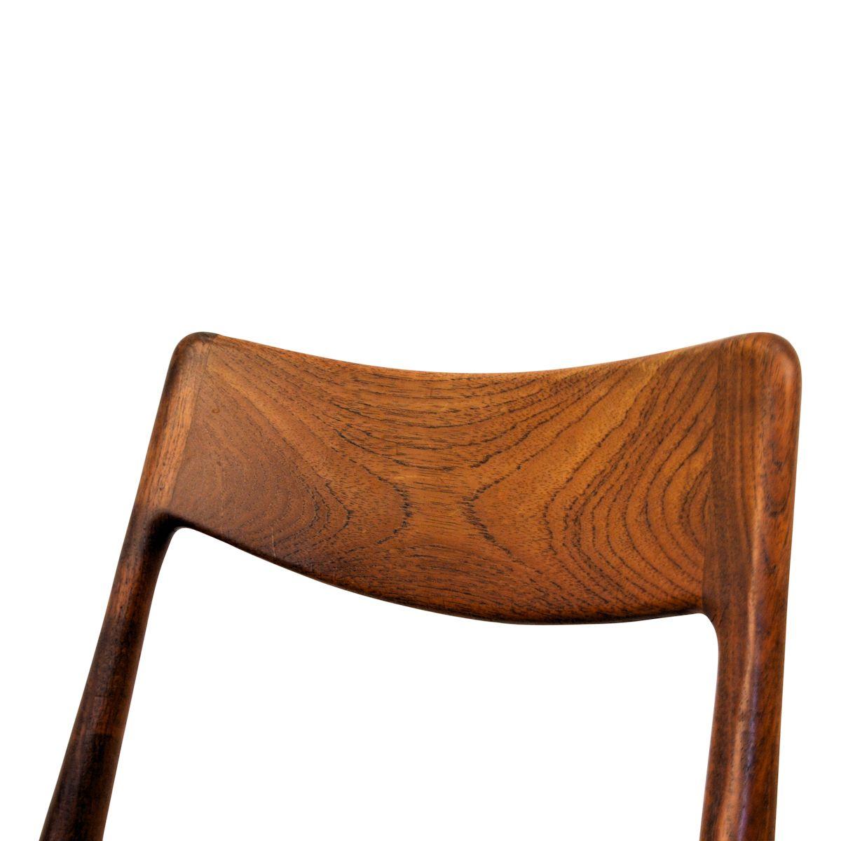 "Vintage Alfred Christensen teak ""Boomerang"" stoel (detail)"