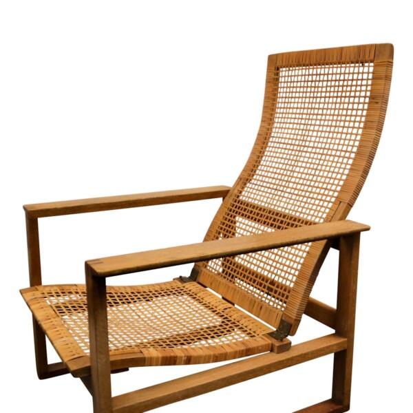Vintage Børge Mogensen eiken fauteuil - frame