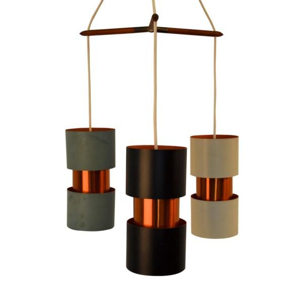 Vintage Jo Hammerborg stijl Deense hanglamp