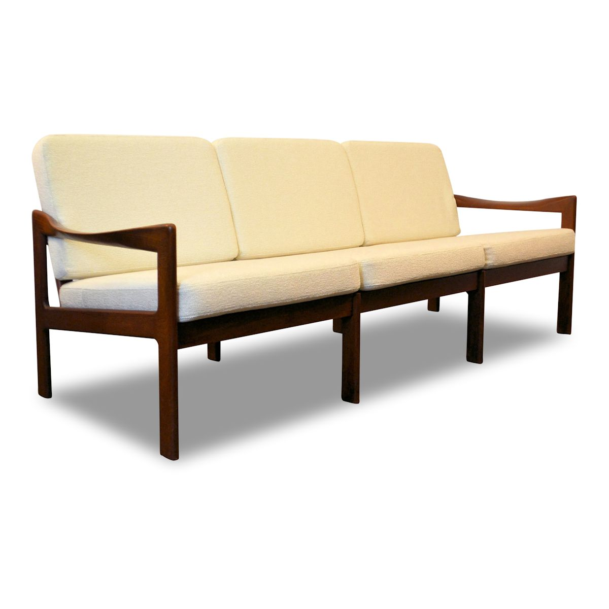 Vintage Illum Wikkelso Three-seater Sofa