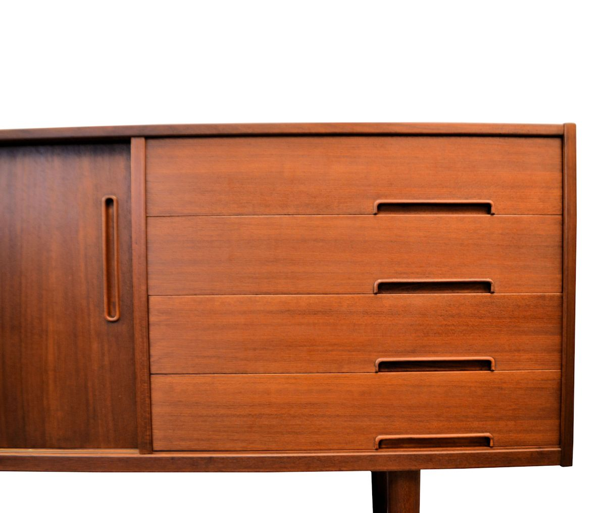 "Nils Jonsson, model ""Trento"" teak dressoir (detail)"