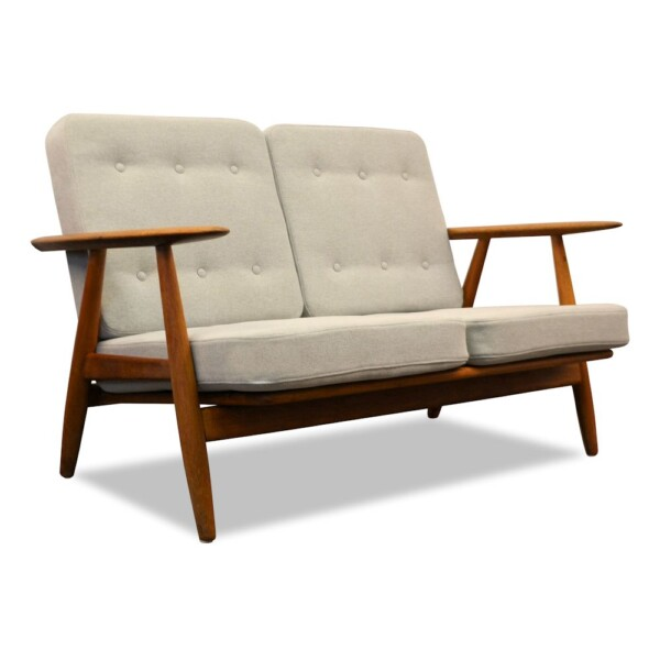 "Hans J. Wegner Two-seater Sofa Model GE-240/2 ""Cigar"""