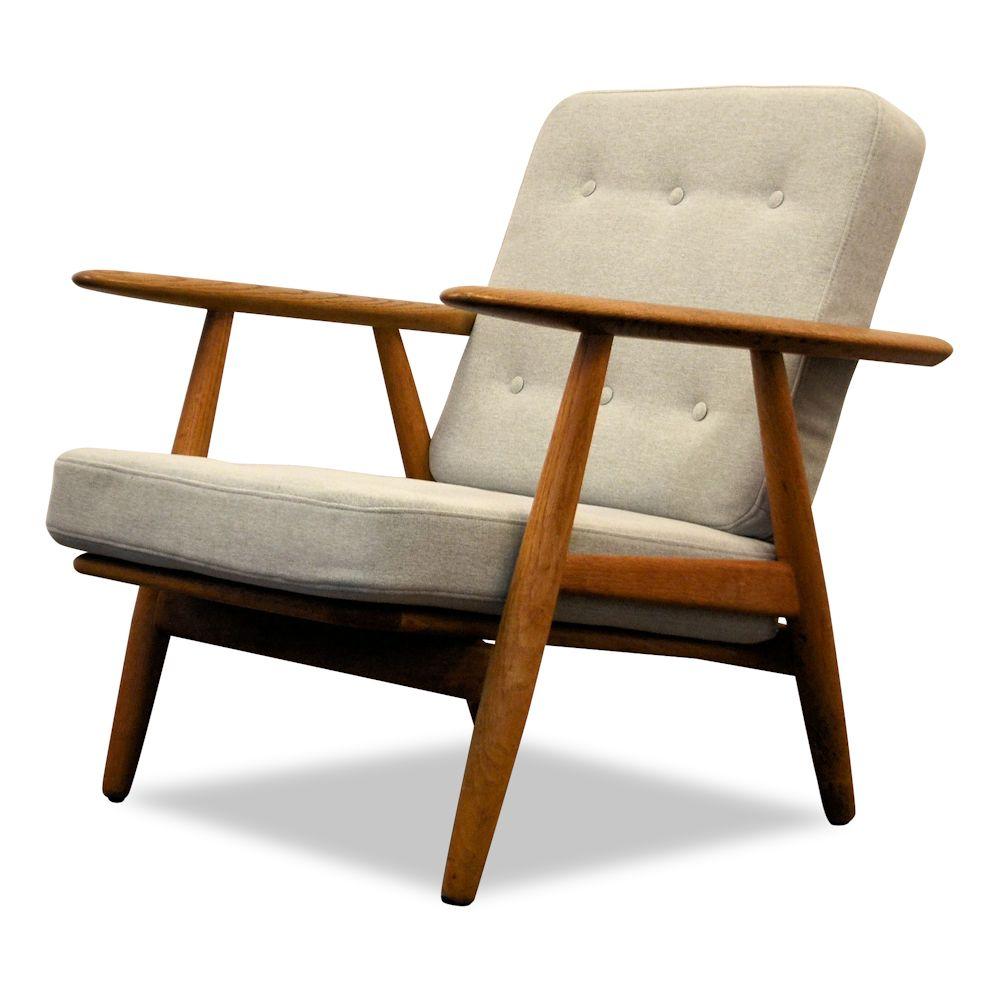 Lounge Stoel Retro.Hans J Wegner Lounge Chair Model Ge 240 Cigar Vintage Vibes