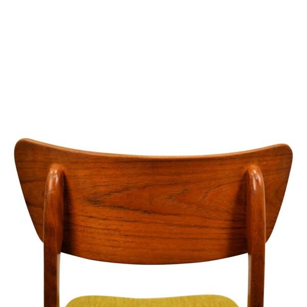 Vintage Deense teak stoel (detail)