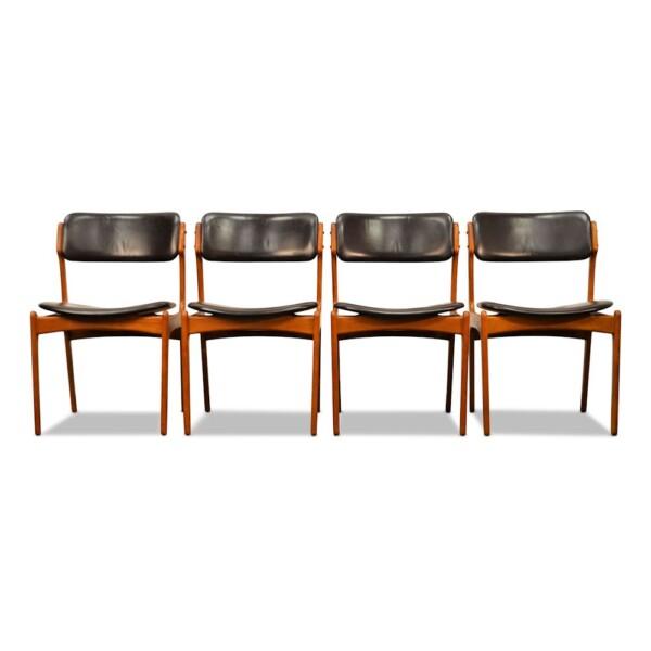 Vintage Teak Dining Chairs by Erik Buck