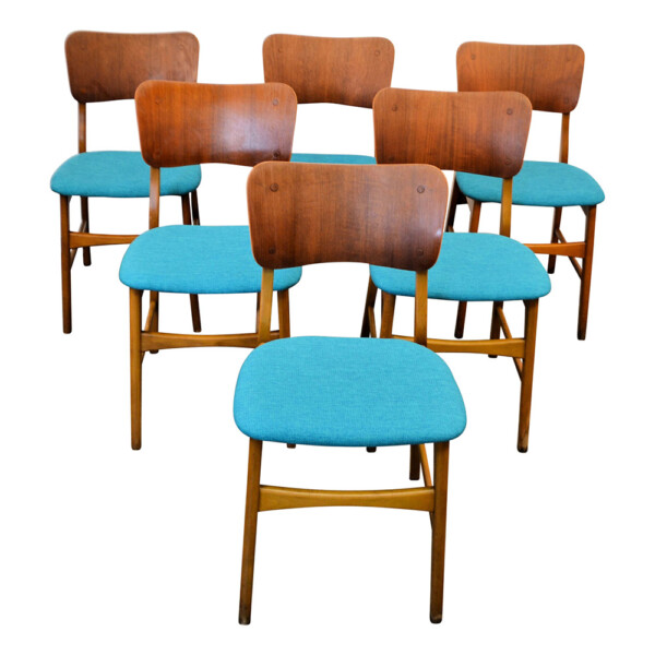 Vintage Boltinge Støle Møbelfabrik Dining Chairs - front and seat