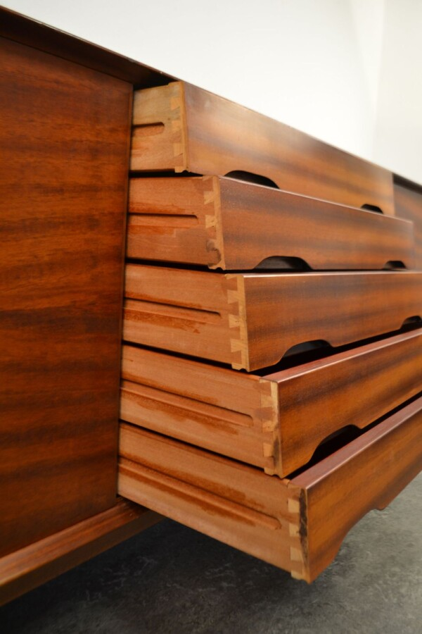 Vintage Henry Rosengren Model N65 Sideboard - drawers detail