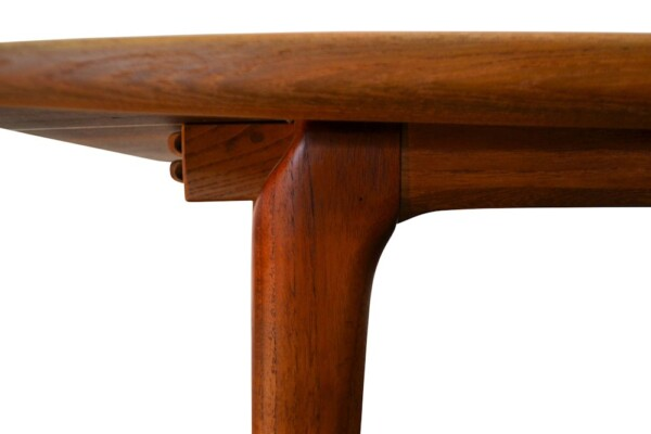 Vintage Model #371 Boomerang Alfred Christensen Dining Table - detail boomerang shape