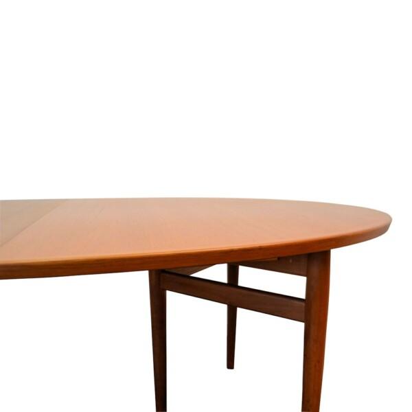 Vintage Deens design Arne Vodder verlengbare teak eettafel (detail)