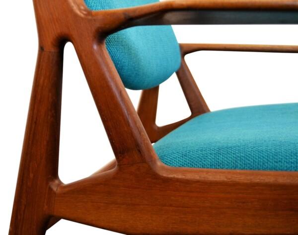 Arne Vodder teak lounge stoel (detail)