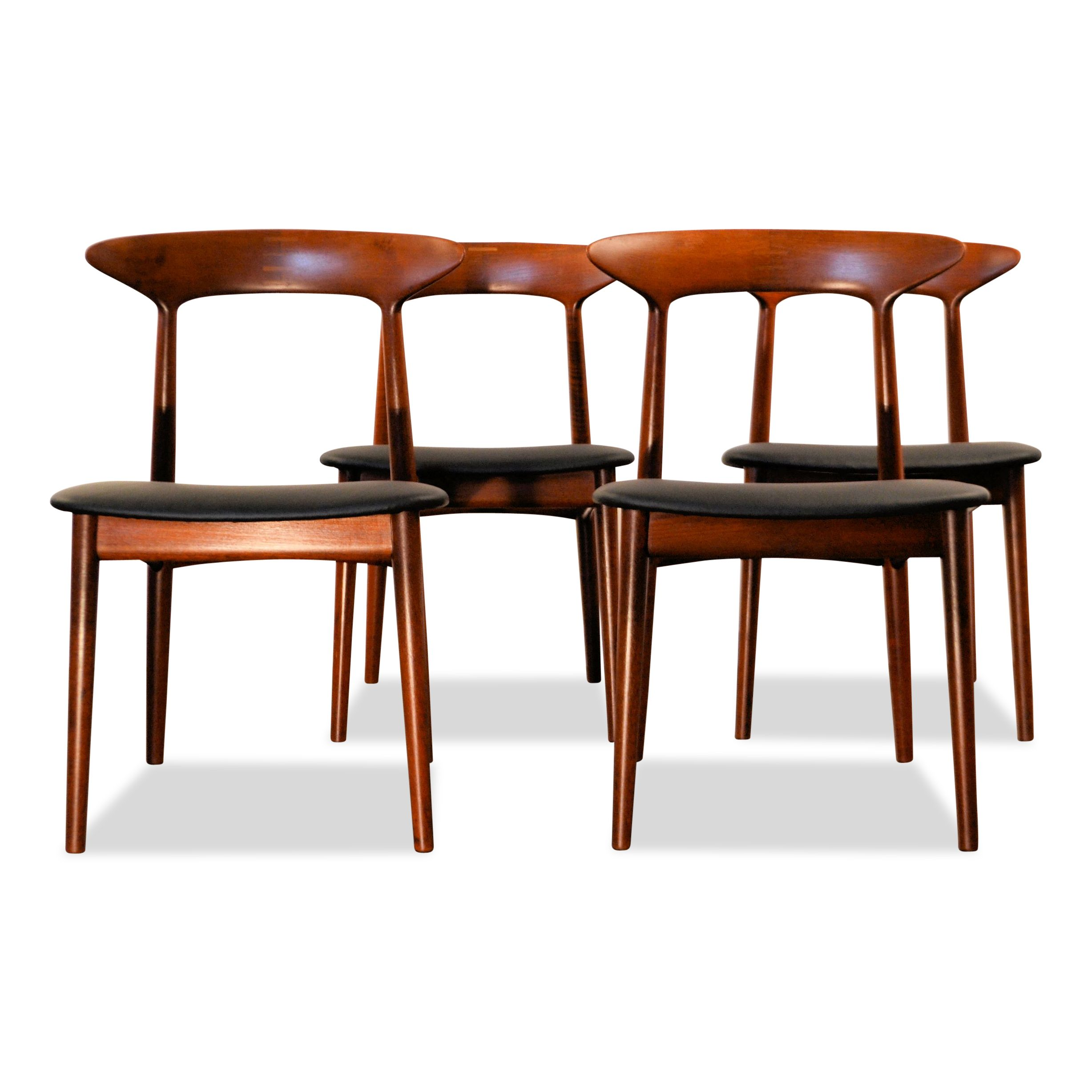 Vintage dining chairs designed by kurt østervig