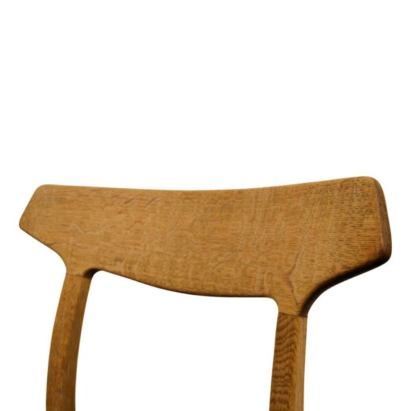 Vintage Oak Dining Chairs by Henning Kjaernulf  - detail backrest