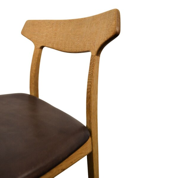 Vintage Oak Dining Chairs by Henning Kjaernulf  - detail