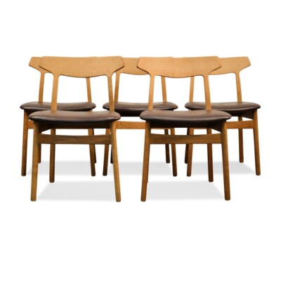 Vintage Oak Dining Chairs by Henning Kjaernulf