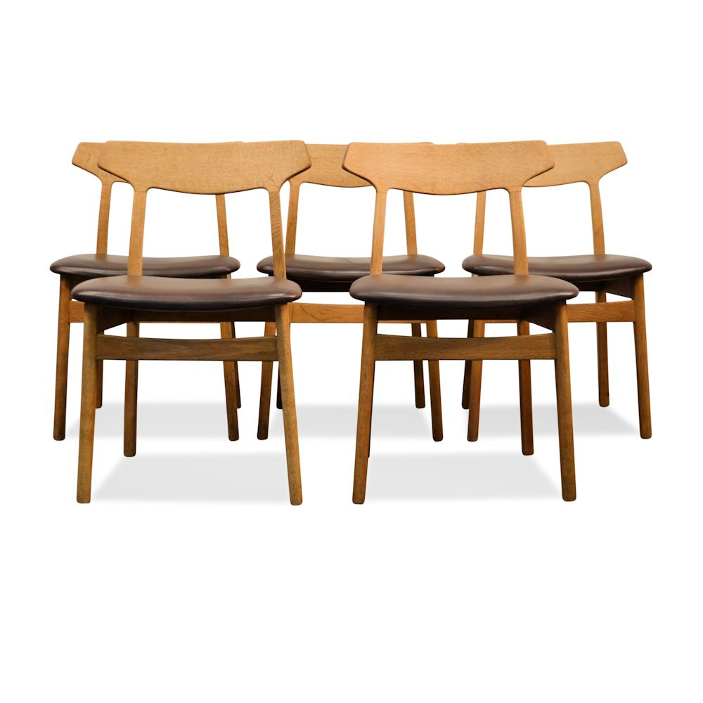 premium selection 15406 66f03 Vintage Oak Dining Chairs by Henning Kjaernulf (5)
