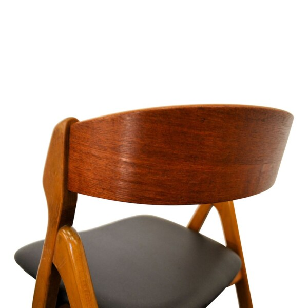 Vintage Henning Kjaernulf Model 71 Dining Chairs - back
