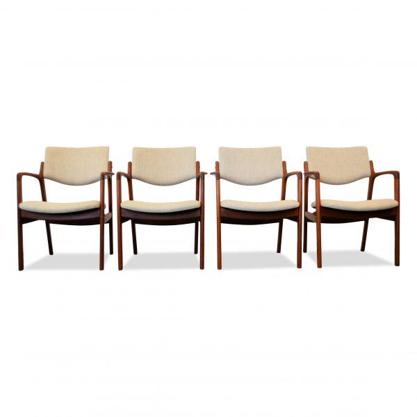 Finn Haugaard teak armleuning stoelen (4)