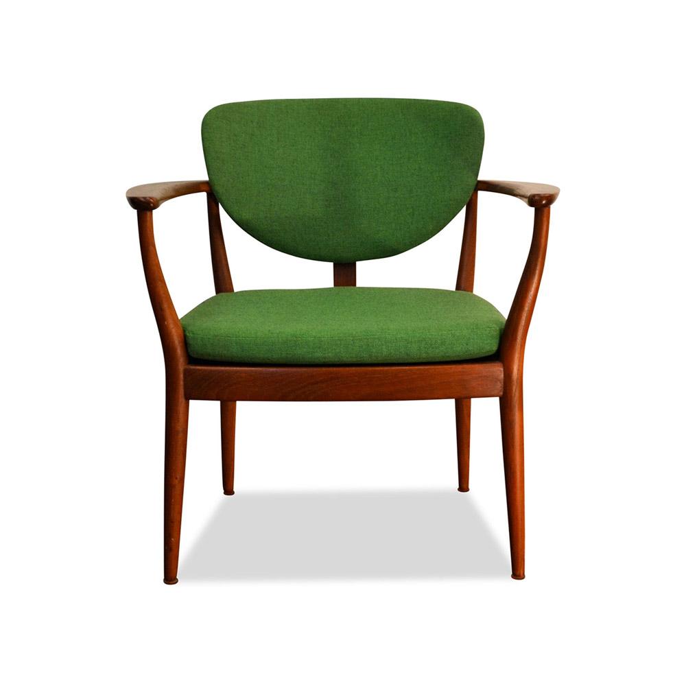 vintage fauteuil finn juhl stijl deens design teak