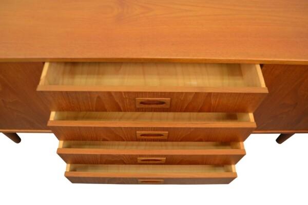Vintage Teak Mogens Kold Sideboard - drawers open