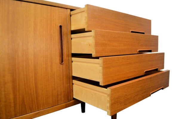 Vintage Nils Jonsson Model Trento Sideboard - drawers open