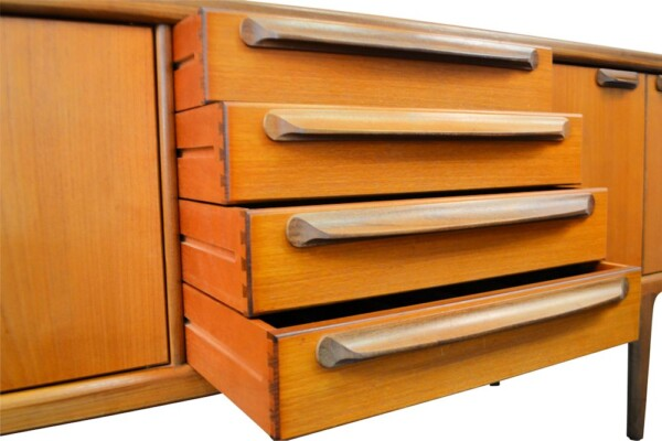 Vintage Teak A. Younger Sideboard - drawers open