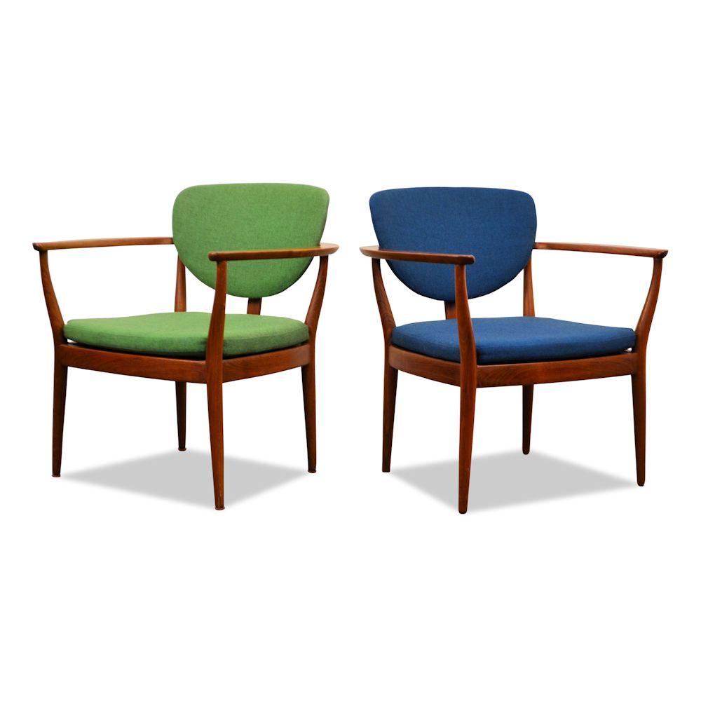 Hedendaags Vintage teak fauteuils Finn Juhl stijl Deens design – Vintage Vibes VC-14