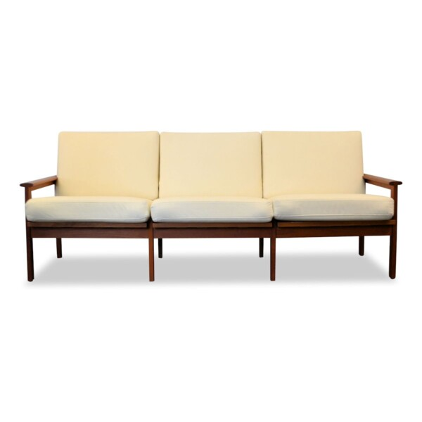 Vintage Illum Wikkelso Three-seater Sofa model Capella