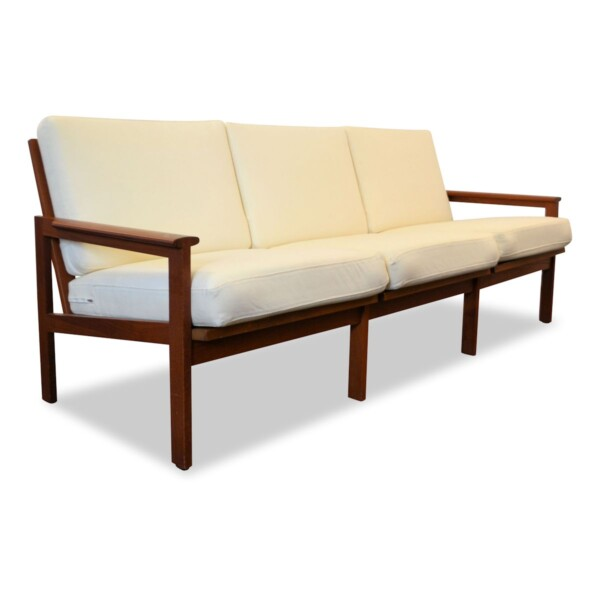 Vintage Illum Wikkelso Three-seater Sofa model Capella - side