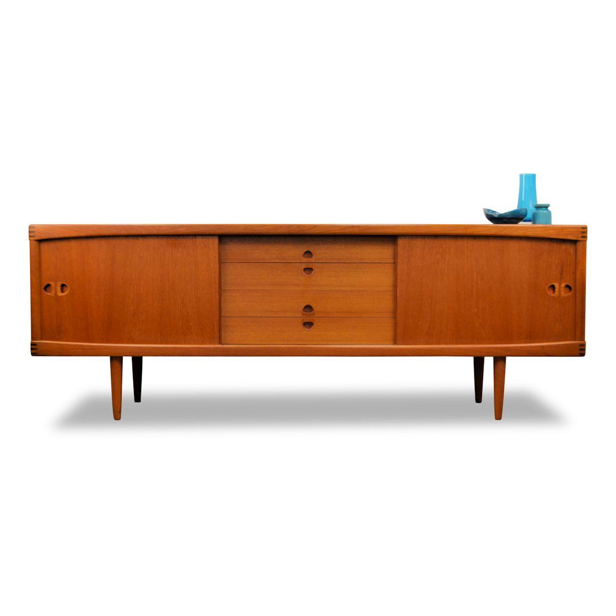 Vintage H.W. Klein voor Bramin teak dressoir