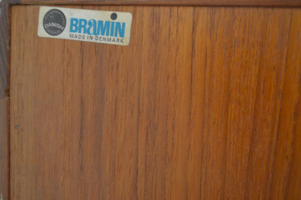 Vintage Bramin Sideboard by H.W. Klein - branding