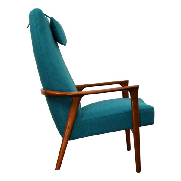 Vintage Teak Lounge Chair by Brödera Andersson - side