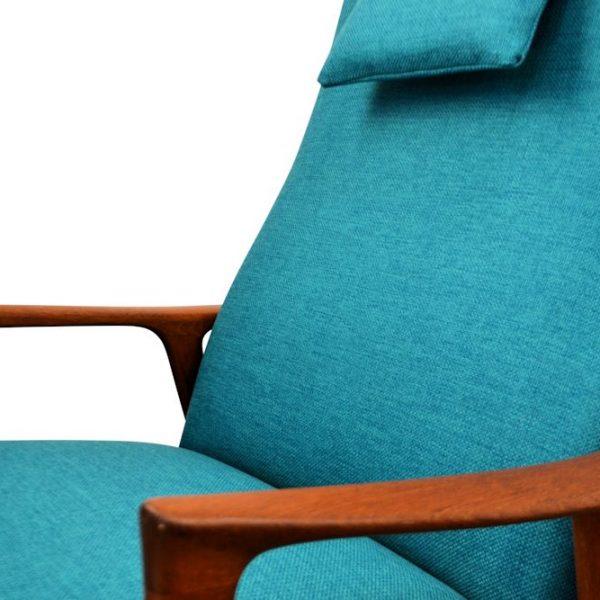 Zweedse Bröndera Andersson teak fauteuil (detail)