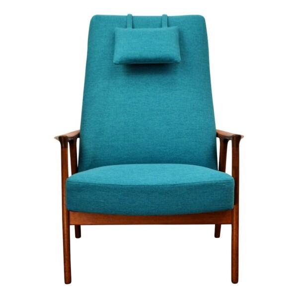 Vintage Teak Lounge Chair by Brödera Andersson - front