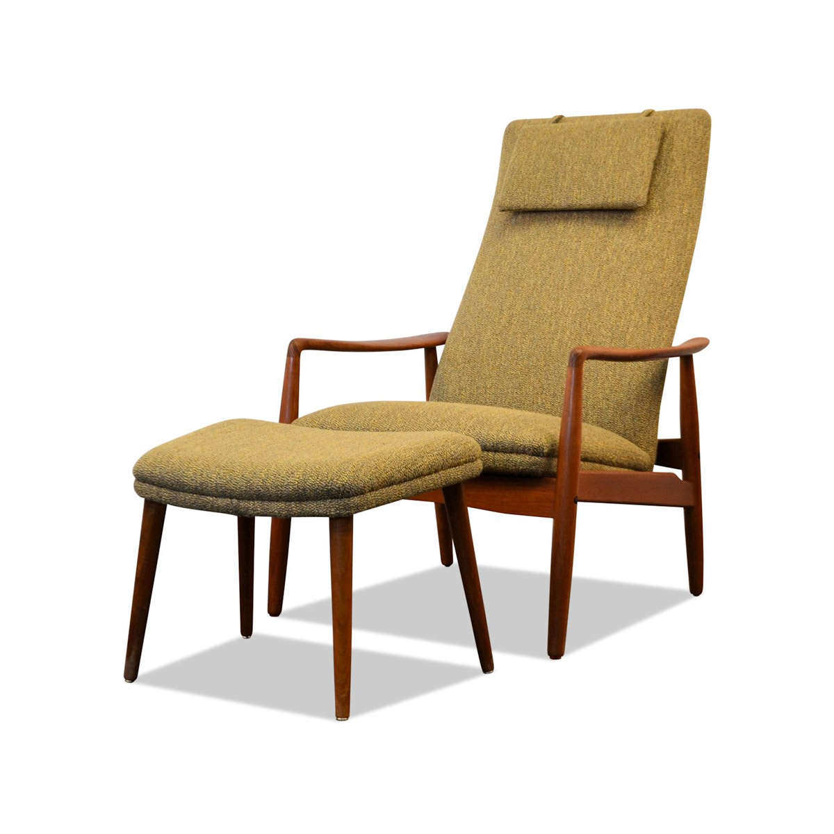 Vintage Søren Ladefoged Easy Chair & Ottoman