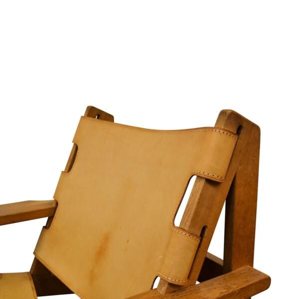VintagVintage Lounge Chairs by Erling Jessen - detaile Erling Jessen eiken/leren fauteuils (2)