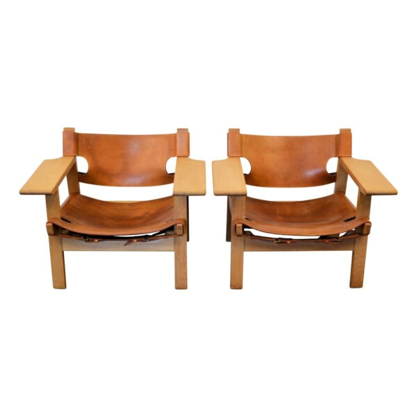 Vintage Spanish Chairs by Børge Mogensen - front