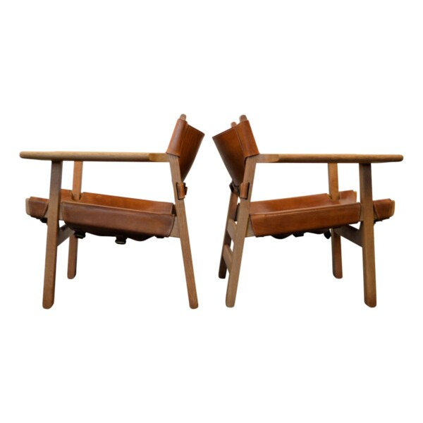 Vintage Spanish Chairs by Børge Mogensen - side