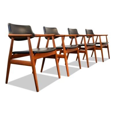 Vintage Teak Svend Aage Eriksen Dining Chairs