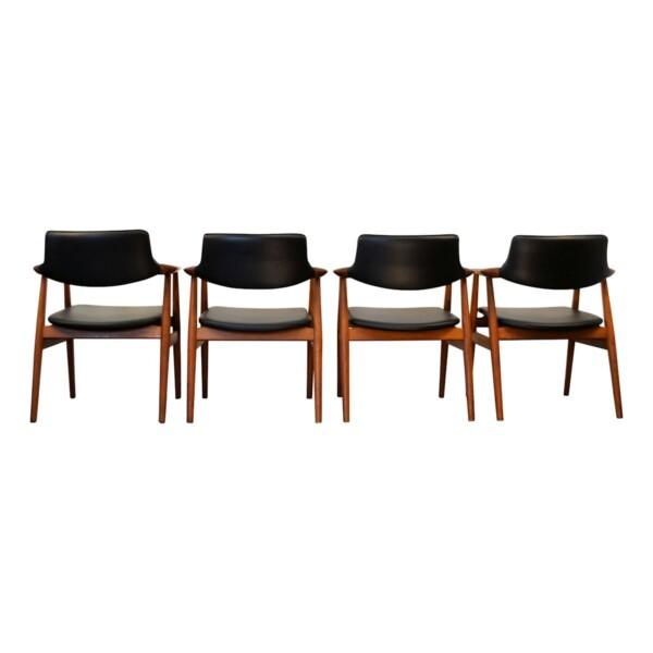 Svend Aage Eriksen teak armleuning stoelen